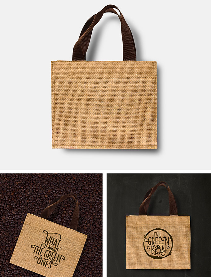 mockup eco bag sack sample